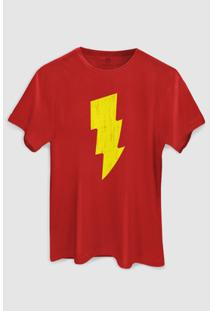 Camiseta Dc Comics Shazam Raio Bandup! - Masculino