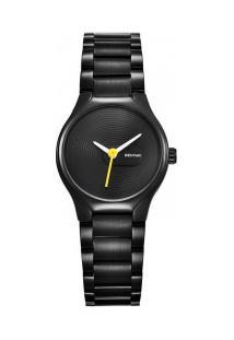 Relógio Feminino Benyar Basic By5119 - Preto E Amarelo