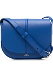 A.P.C. Bolsa Transversal Betty De Couro - Azul
