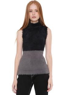 6acd1cf488e25 ... Regata Calvin Klein Jeans Tricot Degradê Preta Cinza