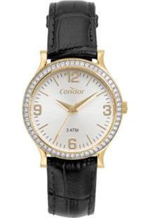Relógio Condor Bracelete Feminino - Feminino-Preto