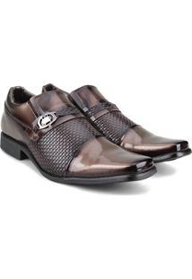 Sapato Social Walkabout Degradê Textura - Masculino-Marrom Claro
