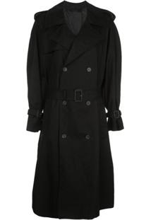 Wardrobe.Nyc Trench Coat Médio - Preto