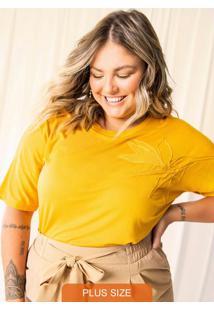 Blusa Feminina Plus Size Amarelo