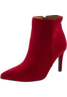 Bota Vizzano Ankle Boot Feminina - Feminino-Vermelho