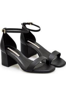 Sandália Sapatinho De Luxo Napa Dubai Salto Bloco Feminina - Feminino