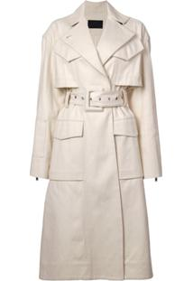 Proenza Schouler Trench Coat Estruturado Com Cinto - Branco