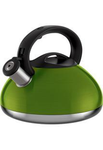 Chaleira Retro- Inox & Verde- 3L- Euro Homewareeuro Homeware