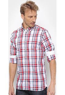 Camisa Tommy Hilfiger Masculino Midscale Check Masculina - Masculino