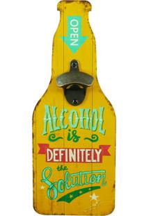 Abridor De Garrafa Alcohol - Multicolorido - Dafiti