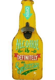 Abridor De Garrafa De Parede Alcohol - Multicolorido - Dafiti