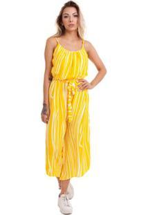 b72cfa9f2 ... Macacão Kinara Pantacourt Viscose - Feminino-Amarelo