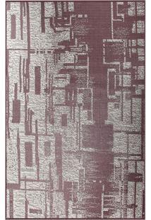 Tapete Sisllê Abstrato Iv Retangular Polipropileno (50X80) Bege E Tabaco
