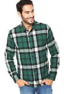 Camisa Coca-Cola Jeans Flanela Xadrez