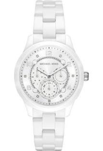 Relógio Michael Kors Runway Feminino - Feminino-Branco