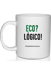 Kit 6 Canecas Brancas Personalizadas Eco-Logico - Branco - Dafiti