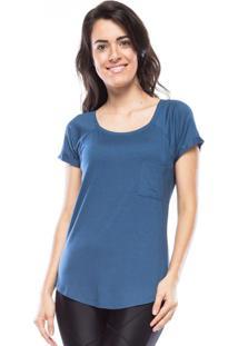 Camiseta New Pocket Vis Up - Azul