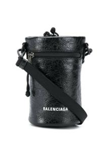 Balenciaga Bolsa Porta-Garrafa Weekend - Preto