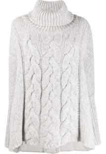 N.Peal Suéter De Tricô Oversized - Branco
