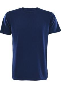 Camiseta Gajang Sem Costura Gola Careca Marinho