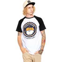 6a284355b2 Camiseta Snoopy Schulz Branca Preta