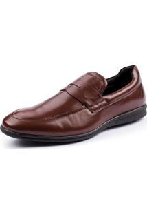 Sapato Side Walk Sapato Social Craft Marrom