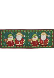 Tapete Papai Noel- Verde & Vermelho- 137X48Cm- Mmabruk