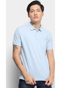 Camisa Polo Ellus Lisa Masculina - Masculino-Azul Claro