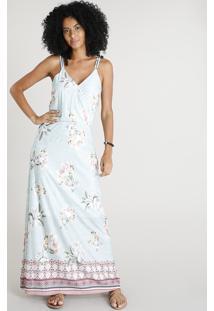 bd99a1d4e01 Vestido Azul De Grife Longo feminino