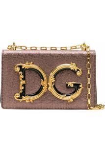 Dolce & Gabbana Bolsa Transversal Dg Girls - Rosa