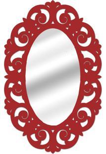 Espelho De Parede 14879V Vermelho 70X100 Art Shop