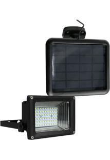 Refletor Solar 60 Leds Ecoforce Preto