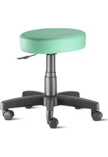Cadeira Mocho Verde Água Plus Giratória Sem Encosto