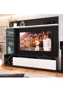 Estante Home Para Tv Até 60 Polegadas Sandra Preto E Branco