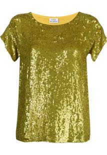 P.A.R.O.S.H. Blusa Com Paetês - Amarelo