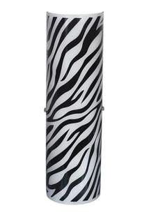 Arandela Attena Venus Grande Zebra Para 2 Lâmpadas - Preto
