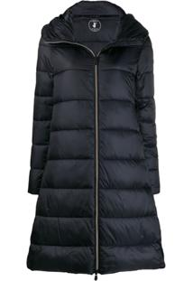 Save The Duck Padded Zip-Front Coat - Preto