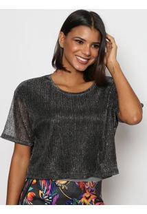 Camiseta Texturizado - Preta & Cinza - Tritontriton