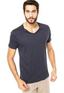 Camiseta Iódice Denim Logo Bordado Azul