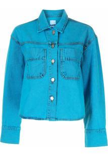 Sjyp Jaqueta Jeans Cropped - Azul