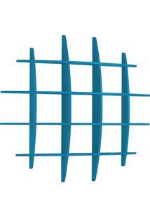 Prateleira Decorativa Grande Taylor 595 Azul - Maxima