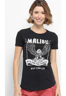 Camiseta Hapuna Baby Look Malibu Feminina - Feminino
