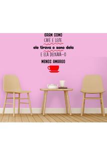 Adesivo De Parede Como Café E Leite