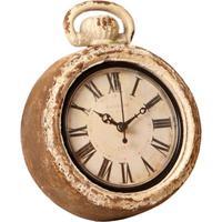 ebb76b18e08 Relógio De Parede Decorativo Santos Dumont De Madeira Envelhecido