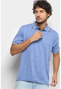 Camisa Polo Broken Rules Masculina - Masculino-Azul Claro