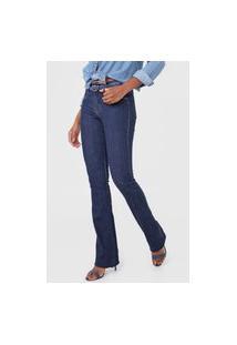 Calça Jeans Lança Perfume Bootcut Pespontos Azul-Marinho