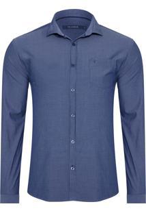 Camisa Masculina Denim Indigo - Azul