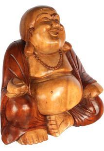 Escultura Buda Feliz 40Cm - Bali