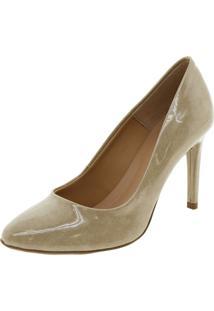 Sapato Feminino Scarpin Salto Alto Mixage - 3558316 Bege