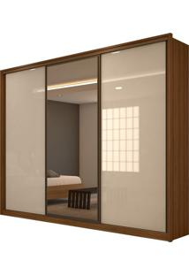Guarda Roupa Spazio 3 Portas Glass Rovere Naturale